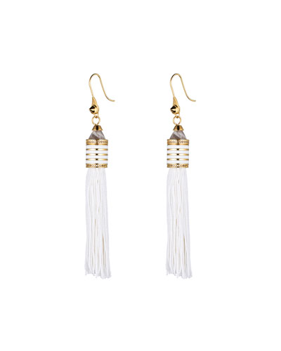 Pave Cone Tassel Earrings
