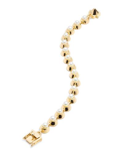 Pearl Cabochon Link Bracelet