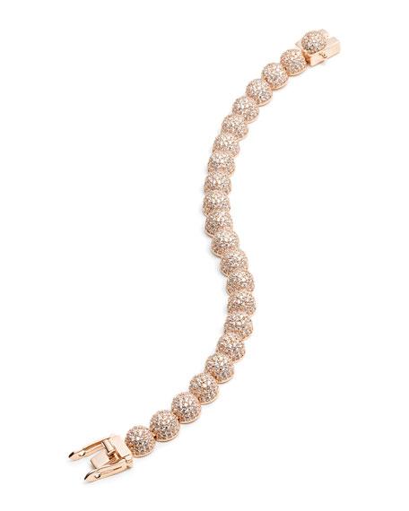 Medium Pave Crystal Dome Link Bracelet