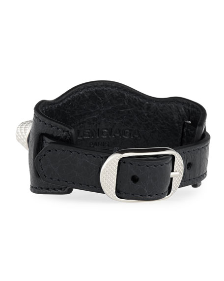 Giant 12 Leather Buckle Bracelet