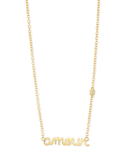 Amour Bezel Diamond Necklace