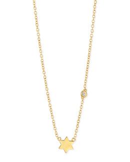 Star of David Bezel Diamond Necklace
