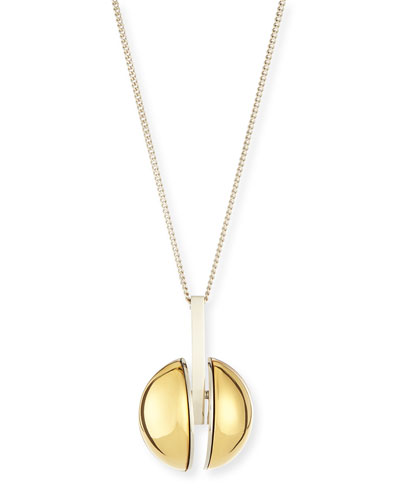 Ellie Two-Tone Golden Pendant Necklace, 33""
