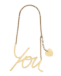 Golden Heart You Pendant Necklace