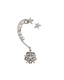 Crystal Stars Ear Cuff & Stud Set