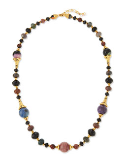 Single Strand Long Beaded Necklace, 38