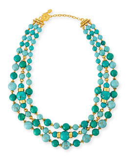 Triple-Strand Turquoise Necklace