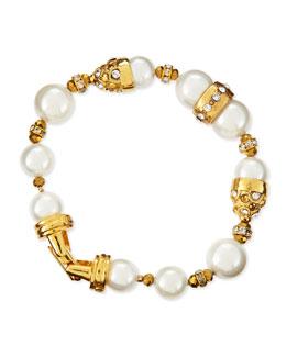 10 & 12mm Pearl Beaded Bracelet