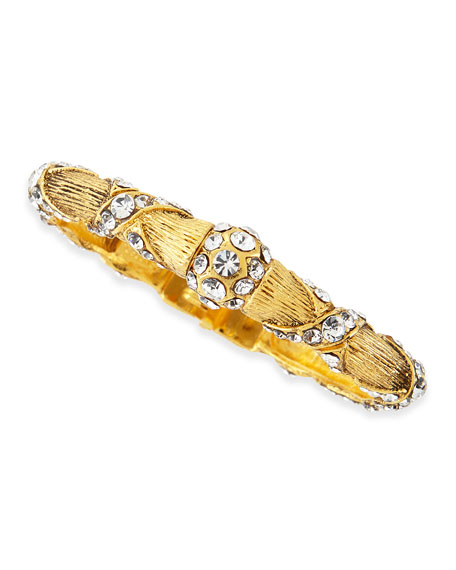 Jose & Maria Barrera Gold Plated Crystal Ribbon
