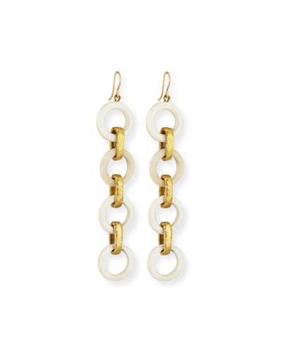 Simama Light Horn Drop Earrings