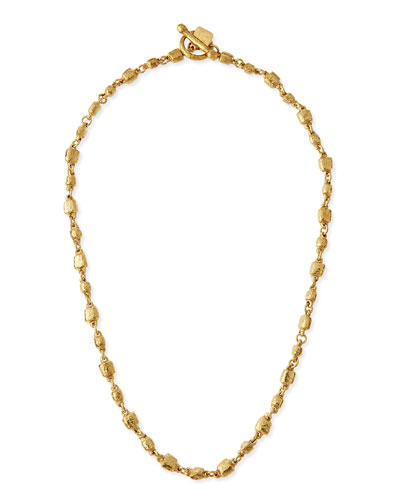 Nafsi Bronze Beaded Necklace, 27""