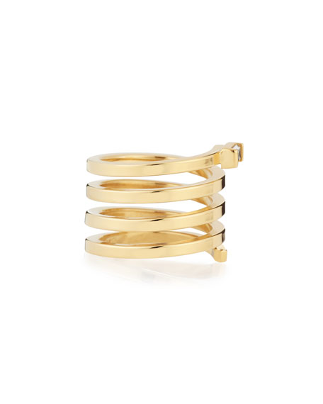Fortuna Gold Vermeil Spiral Ring