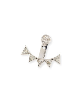 Pave Diamond Triangle Earring Jacket