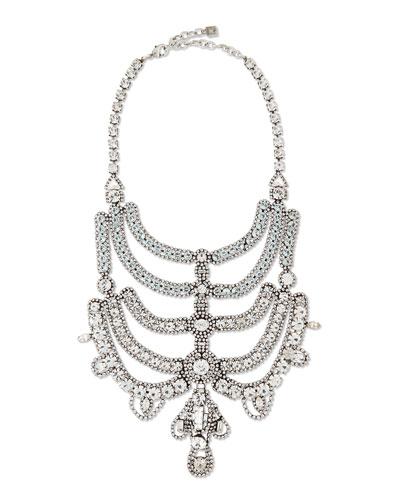 Margaux Crystal Bib Necklace