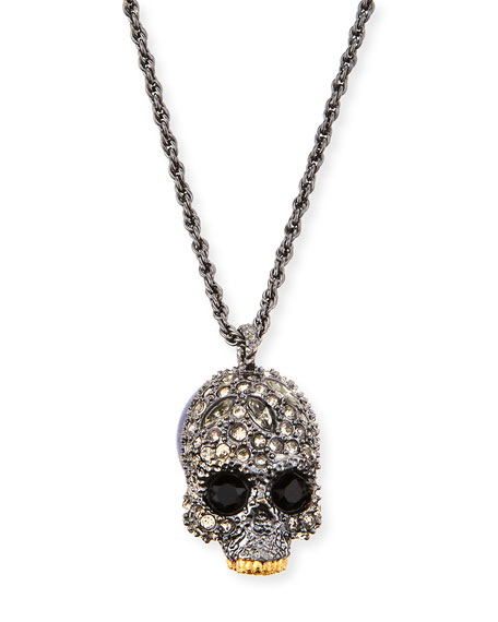 Alexis bittar elements crystal skull pendant necklace mozeypictures Images