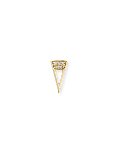 14k Diamond Open Stud Single Earrings