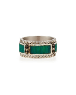 New World Mosaic Stack Ring with Diamonds