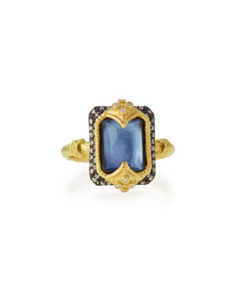 Old World Dulcinea Triplet Diamond Ring