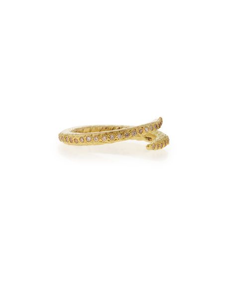Sueño 18k Crisscross Diamond Ring
