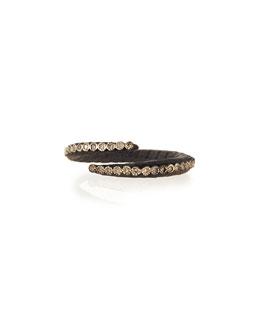 Old World Midnight Crisscross Diamond Ring