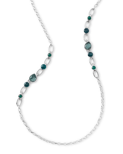 Rock Candy Multi-Stone Long Necklace in Neptune, 38""