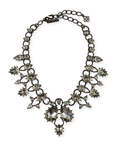 Pear Crystal Statement Necklace