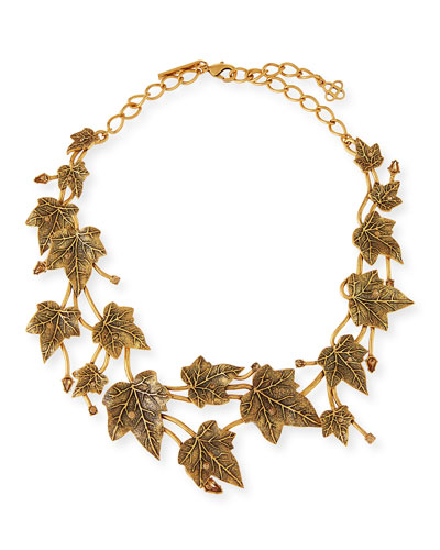 Ivy Leaf Crystal Necklace