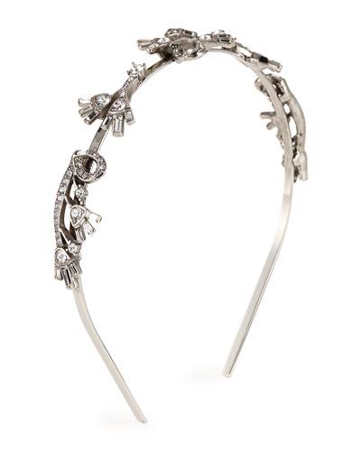Floral Baguette Crystal Headband