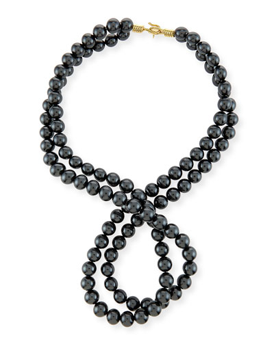 Swarovski® Crystal-Pearl Two-Strand Necklace