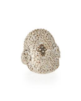 New World Large Pave Diamond Oval Ring