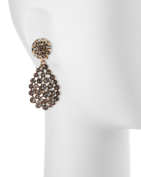 Classic Crystal Teardrop Clip Earrings