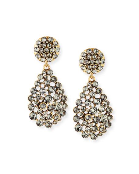 Classic Crystal Teardrop Clip Earrings