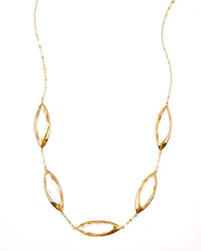 14k Elite Jetset Marquise Crystal Necklace