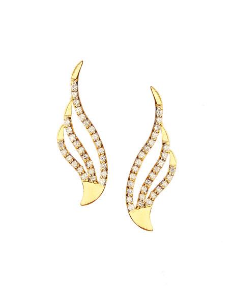 14k Pulse Diamond Crawler Earrings