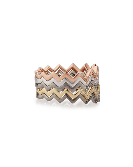 Zigzag Diamond Stackable Ring