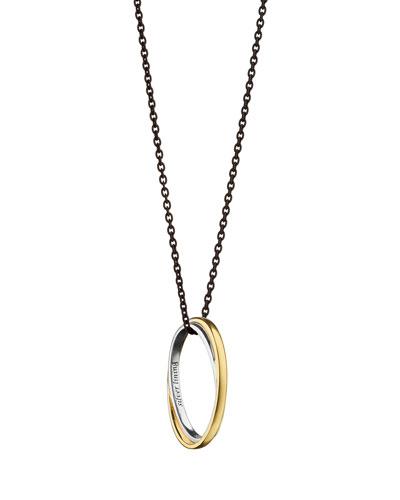 Posey Silver & 18k Gold Double Ring Necklace
