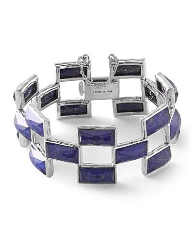 925 Rock Candy Lapis Doublet Mosaic Bracelet