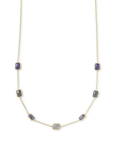 18k Rock Candy® Mini Rectangle Liberty Necklace, 16-18