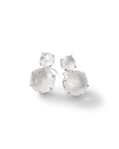 Rock Candy® Two-Doublet Earrings in Clear Quartz
