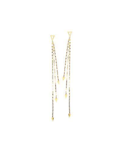 14K Gold Elite Tri Vista Earrings