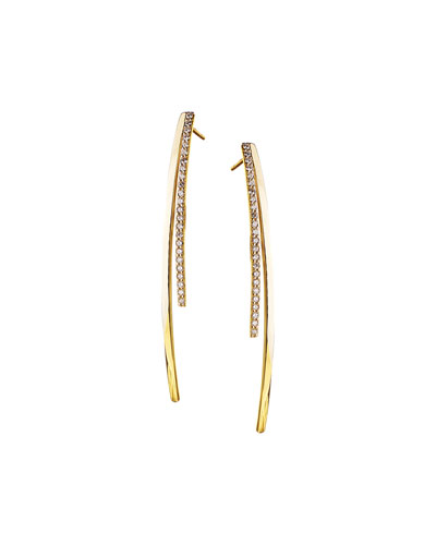 Small Electric Diamond Bar Earrings