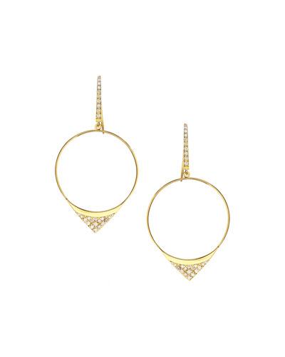 Small Electric Diamond Hoop Earrings