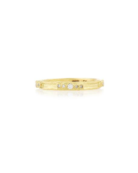 Sueño 18K Gold Diamond Stacking Ring