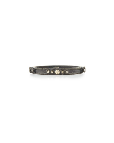 Old World Midnight Diamond Stacking Ring