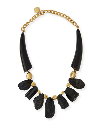 Mabavu Dark Horn Necklace
