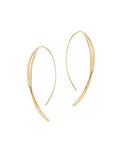 Twisted Thread-Through Hoop Earrings