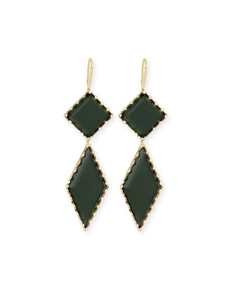 LANA 14K Gold Midnight Drop Earrings