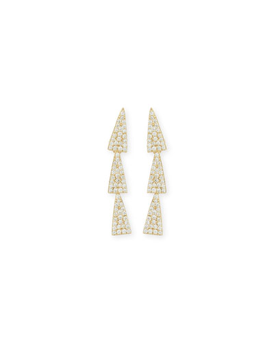 14K Gold Diamond Crush Studs