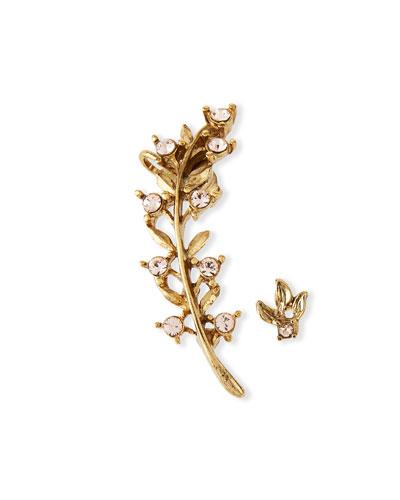 Swarovski® Crystal Leaf Cuff Earring