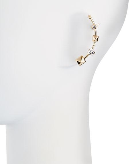 Rockstud Crystal Cuff Earring